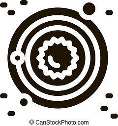 icona, illustrazione, sistema, latteo, solare, modo