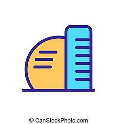 icona, illustrazione, vector., isolato, grattacielo, simbolo, contorno