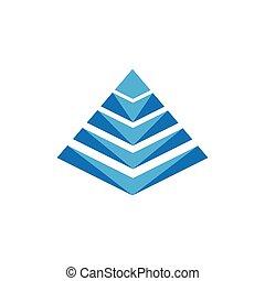 icona, illustrazione, vettore, pyramide