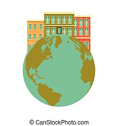 icona, isolato, terra, pianeta, mondo