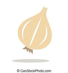 icona, logotipo, vettore, aglio, isolato, illustrazione
