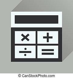icona, lungo, affari, uggia, appartamento, calcolatore