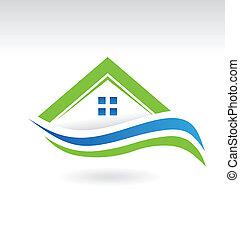 icona, moderno, proprietà, casa
