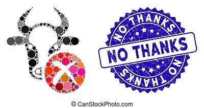 icona, mucca, ringraziamento, afflizione, mosaico, scarto, no, sigillo