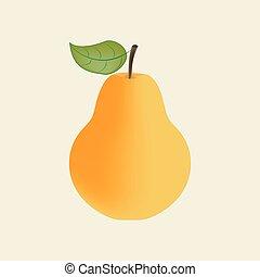 icona, pera, frutta