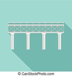 icona, ponte, ferrovia, stile, appartamento
