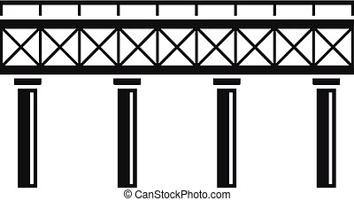 icona, ponte, ferrovia, stile, semplice