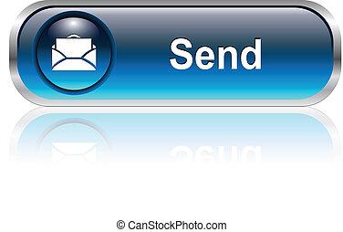 icona, posta, bottone
