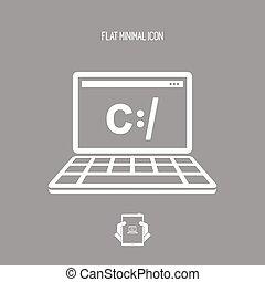 icona, programmazione, digitale, software