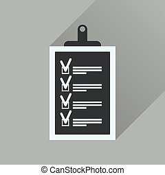 icona, questionario, lungo, affari, uggia, appartamento