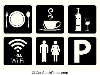 icona, ristorante, importante