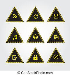 icona, segno, giallo
