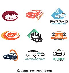 icona, simbolo, automobile, set, veicolo, automobilistico