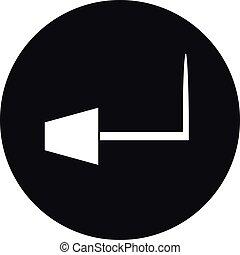 icona, simbolo, mobilia, illuminazione