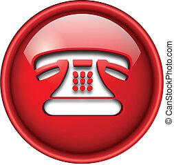 icona, telefono, button.