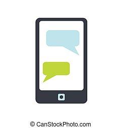 icona telefono, messaggi