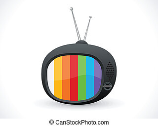icona, televisione, astratto