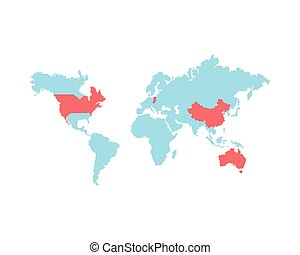 icona, terra pianeta, mappa, mondo