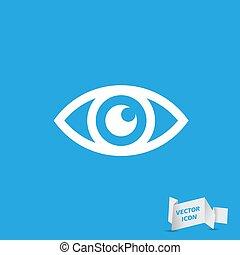 icona, vettore, -, occhio, illustrazione