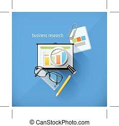 icone, affari, ricerca