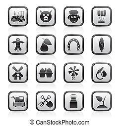 icone, agricoltura, agricoltura