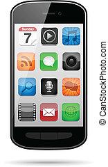 icone, app, smartphone