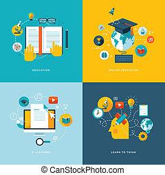 icone, appartamento, concetto, educazione