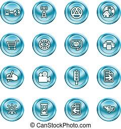 icone, calcolare, internet, media