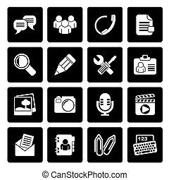 icone, chiacchierata, domanda
