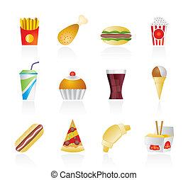 icone, cibo, digiuno, bevanda