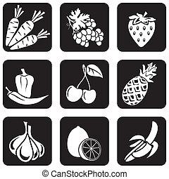 icone, cibo, (part, 4)
