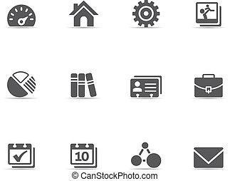 icone, colorare, -, universale, singolo
