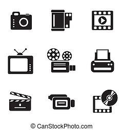 icone, computer, photo-video