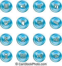 icone, computer, web