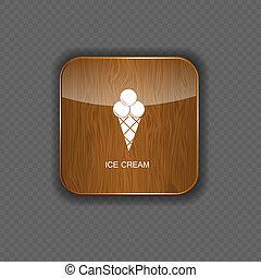 icone, domanda, vettore, crema, ghiaccio