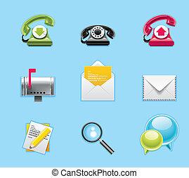 icone, domande, servizi