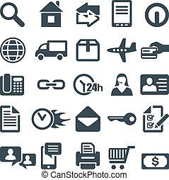 icone fotoricettore, mobile, luogo, app., o