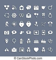 icone fotoricettore, progetto serie, appartamento