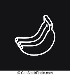 icone, frutta, vettore, simbolo, segni, cibo
