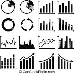 icone, infographic, tabelle, -, graphs.