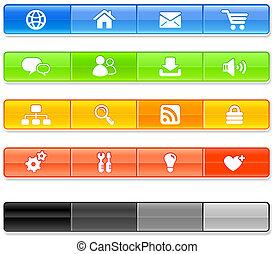 icone, internet, sbarra