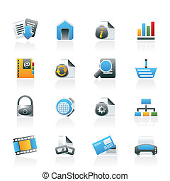 icone, internet web, luogo
