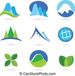 icone, natura, montagna, turism