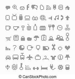icone, pixel