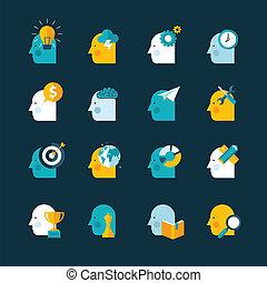 icone, progetto serie, appartamento, concetto