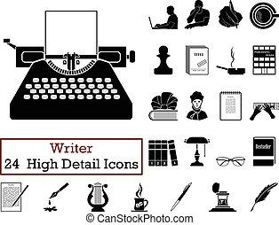 icone, scrittore, 24, set