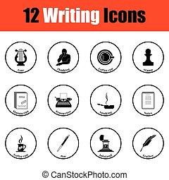 icone, scrittore, set