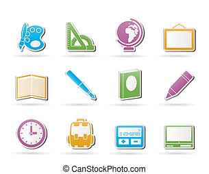 icone, scuola, educazione