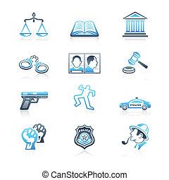 icone, serie, ordine, legge, marino,  