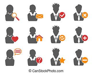 icone, set, utente